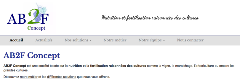 AB2F Concept – Nutrition et la fertilisation raisonnées des cultures