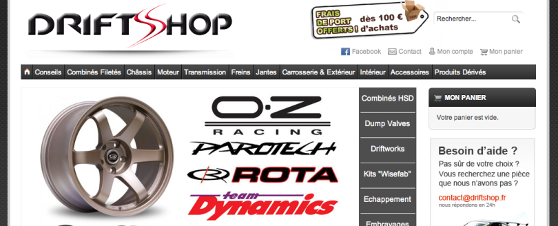 DriftShop (référence Magento)