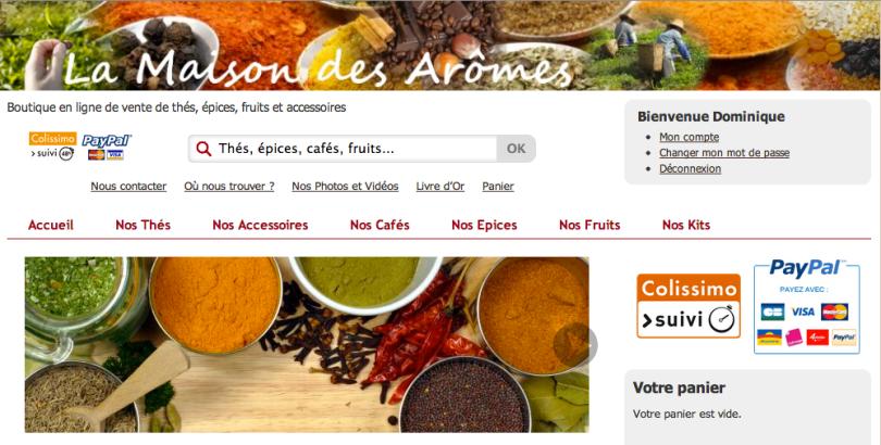 La Maison des Arômes, vente de thés et épices en ligne