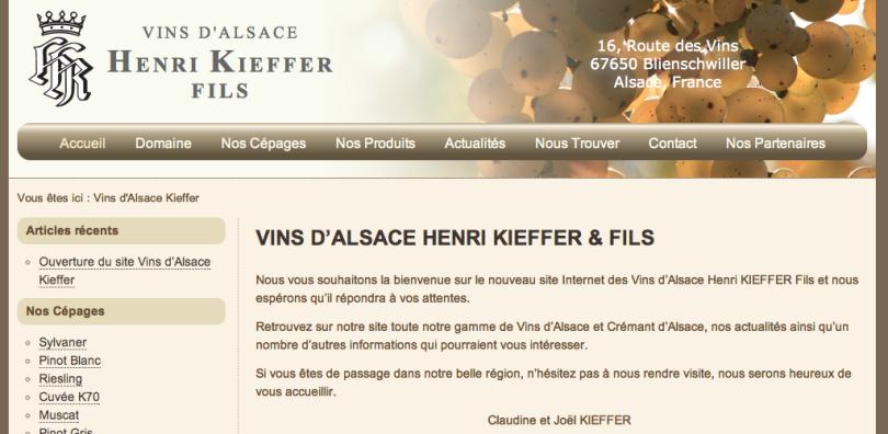 Vins d'Alsace Henri Kieffer & Fils