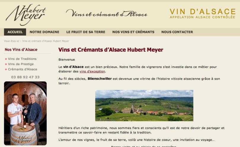 Vins d'Alsace, Domaine Hubert Meyer