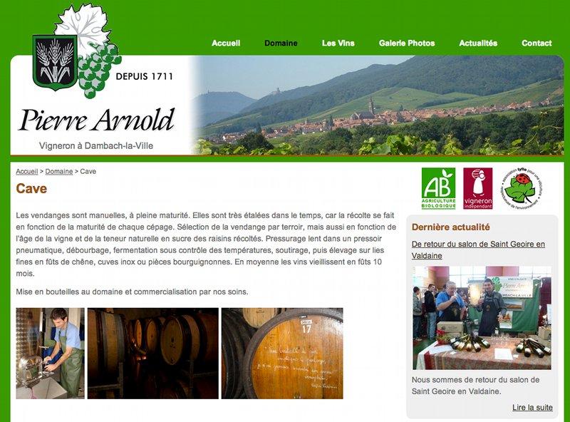 Vins d'Alsace Pierre Arnold, vigneron à Dambach-la-Ville