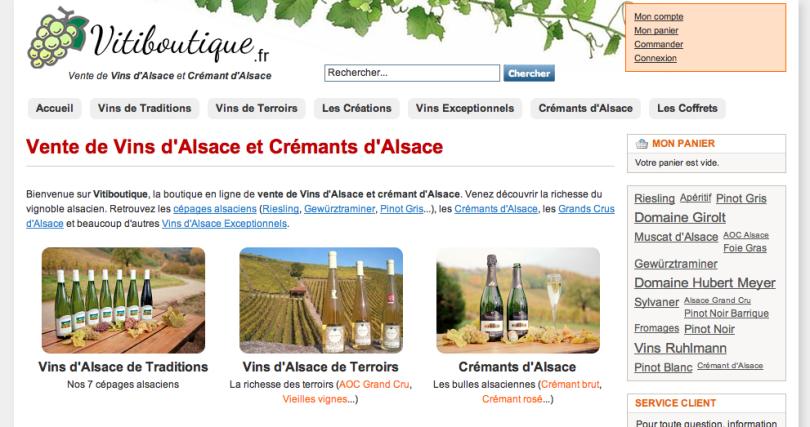 Vitiboutique.fr, Vente de Crémants et Vins d'Alsace