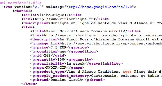 WooCommerce - Flux Google Shopping